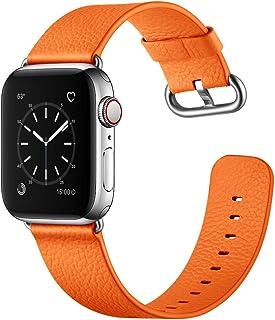 XIALEY para Apple Watch Banda 44Mm 42Mm 40Mm 38Mm, Pulseras De Correas De Repuesto De Brazalete De Cuero Genuino Iwatch pa...