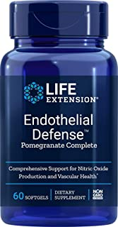 Life Extension 02097 - Endothelial Defense Pomegranate Complete 60 Softgels, 0.3 Pound