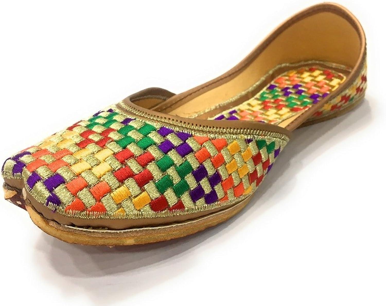Step n Style Womens Khussa shoes Punjabi Juttis Flat Ballet Mojari Indian Sandal