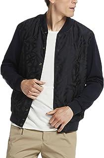 Scotch & Soda Men's Varsity Jacket in Mix & Match Nylon Jacquard and Technical J