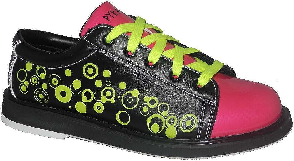 Pyramid Youth Rain Black/Hot Pink/Lime Green Bowling Shoes