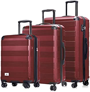 Verdi Luggage Set 3 Piece - Lightweight with USB Port Hardside Carry On Suitcase - Includes Expandable 20 Inch Carry on, 2...