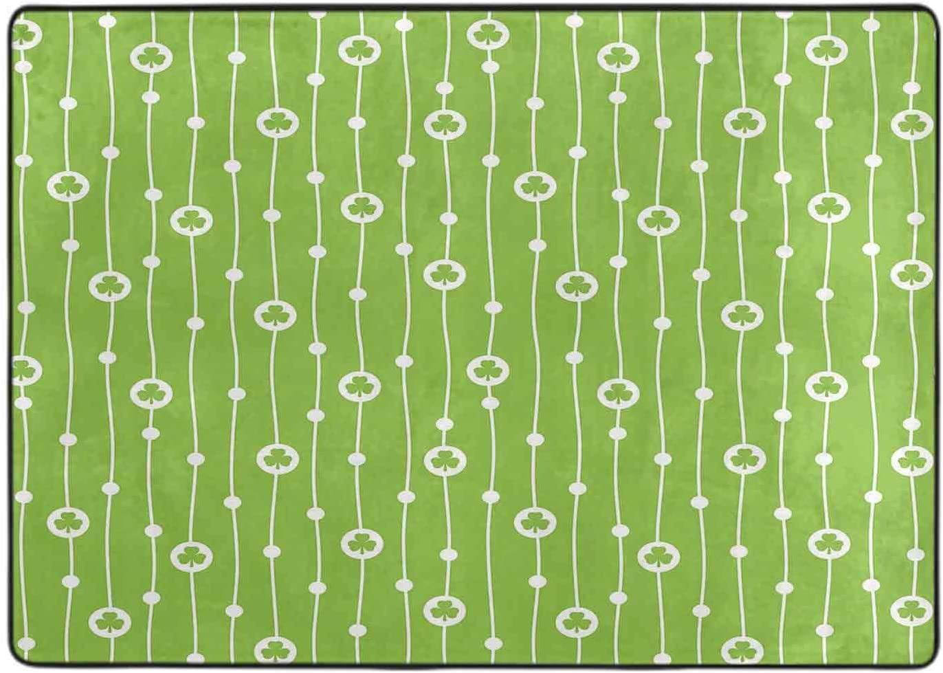 Modern Area Rug Fresno Mall Cute Trifolium on Large-scale sale Do with Stripes Vertical Wavy