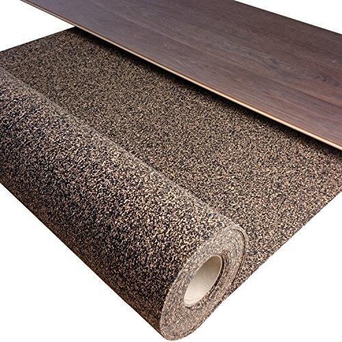 1 m² / Gummikork (Rubbercork) Akustik Trittschalldämmung und Gehschalldämmung für Laminat, Parkett, Kork und Vinylböden - Auch für Auslegware z.B. Teppichböden geeignet -Stärke: 2 mm - Wir machen Ihren Boden Leiser !!