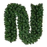 Yosayd Christmas Garland Greenery Tree Branch Outdoor Holiday Decorations Pine Garland with 280 Tips, 9-Feet by 10-Inch