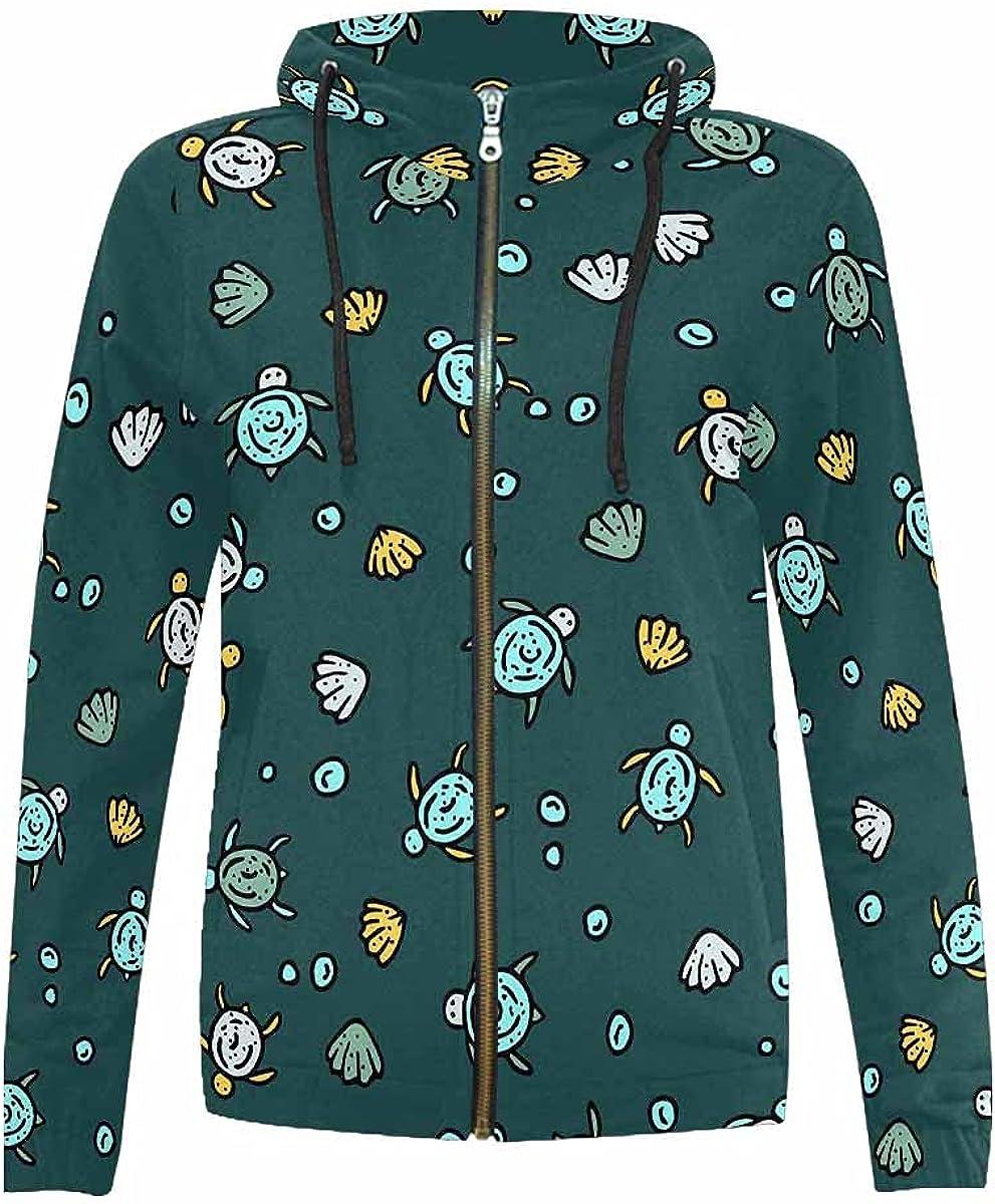 InterestPrint Watercolor Raccoon Boys Girls Hooded Jackets Full Zip Drawstring Hoodie for Kids