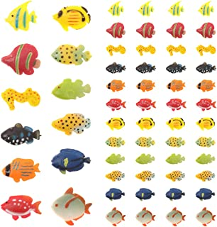 Dutch Brook Ocean Sea Animal Toys,60 Pieces Assorted Mini Plastic Animal Toy Set,Tropical Fish Figure Play Set,Tropical Fish Party Favors for Kids