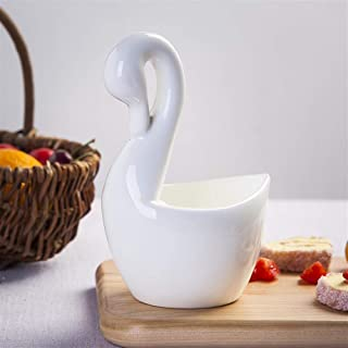 LYQZ Tubo palillo, Bone China, Estante vajilla de Cocina, Forma de la Flor Cesta Cisne, Apto for Horno de microondas, Desinfección del gabinete, Lavavajillas (Color : Swan Chopsticks Tube)