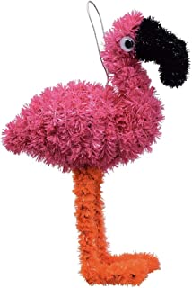 Pink Flamingo Tinsel/Wreath Attachment/Party Supply (Hot Pink)