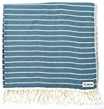 Sand Cloud Turkish Towel - Peshtemal Cotton - Great for Beach or as a Blanket - The Gocek (Denim)