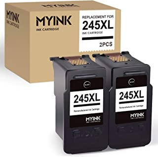 MYINK Remanufactured Ink Cartridge Replacement for Canon 245 245XL PG-245XL 243 (2 Black) use in Pixma TS3122 TS3120 MX492 MX490 MG2420 MG2520 MG2522 MG2924 MG2920 IP2820 Printer