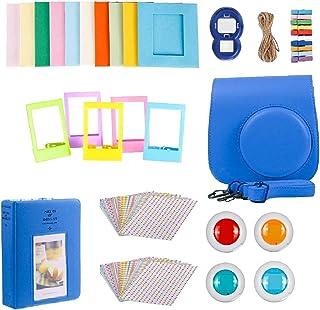 Perfk for FujiFilm Instax Mini 9 Camera Accessories Bundle - Carrying Case, Color Filters, Photo Album, Stickers, Selfie L...
