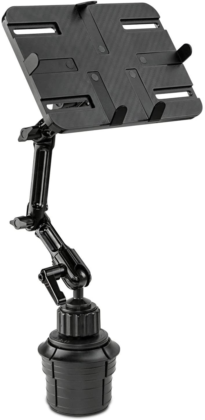 Mount-It! Premium Cup Holder Tablet Mount for Cars - Tablet ELD Mount - Heavy Duty Aluminum Tablet Mount for iPad 7, Galaxy Tab, & Fire Tablets (MI-7320)