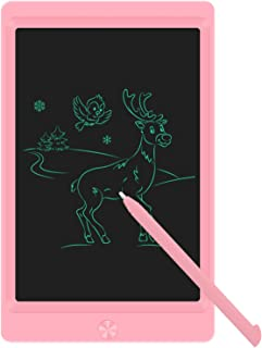 Best LCD Writing Tablet Drawing Board, 8.5 Inch Electronic Drawing Tablet Kids Doodle Board Writing Pad for Kids and Adults at Home, School and Office with Lock Erase Button(Pink) Review