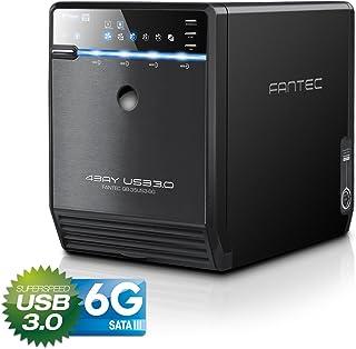 FANTEC QB-35US3-6G - Carcasa para 4 discos duros de 3.5″ con USB 3.0 & eSATA
