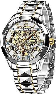 Men Watch Swiss Brand Skeleton Automatic Self Winding Mechanics Luxury Tungsten Steel Strap...