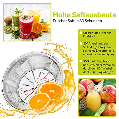 Zentrifugenentsafter für Obst und Gemüse Bild 5*