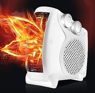 Acyon Calefactor Portátil Eléctrico Silencioso con Calentador Rápido de Cerámica PTC,2 Modos de contra Viento,Protección Sobrecalentamiento, Ventilador Calentador para Baño Oficina Dormitorio