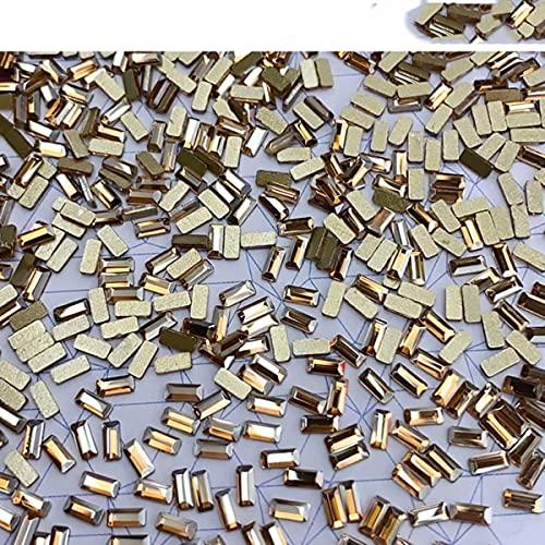 50 piezas de cristal brillante 3D decoración de uñas de diamantes de imitación forma Flatback cristal diamante diseño de joyería accesorios de manicura