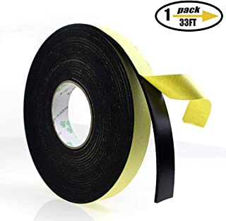 Foam Insulation Tape Adhesive, Seal, Doors, Weatherstrip, Waterproof, Plumbing, HVAC, Windows, Pipes, Cooling, Air Conditioning, Weather Stripping, Craft Tape (33 Ft x 1/8