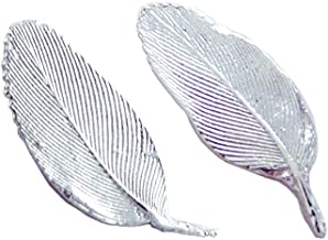 product image for Tiny Feathers Stud Earrings, American Made Sterling Silver