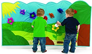 Excellerations Interactive Hanging Wall Mural, Soft Garden Design for Toddlers and Children with 14 Hook and Loop Soft Play Pieces, 6 Ft Long x 3 Ft High