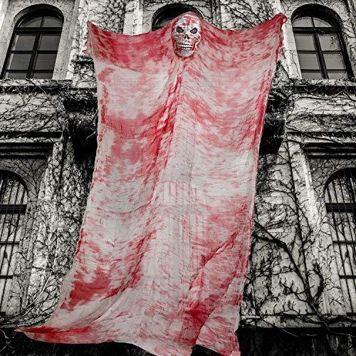 Halloween Ghost Hängende Dekorationen Hängen Fliegender Geist Blutige Gaze Unheimlich Ghost Prop Halloween Gruselig Dekor für Draußen Drinnen Yard Party