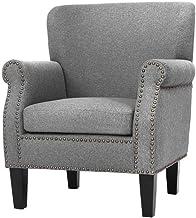 Artiss Sofa Armchair Fabric Lounge Accent Chair - Grey