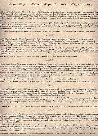 Poster Haydn Nelson della Fiera Hob.XXII: 11faksimile