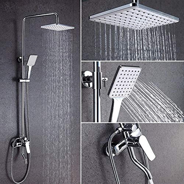 SWB Duschsule Modernes Badezimmer Multifunktionslifting Dusche Set Wasserhahn Dusche Set Mischer Wasserhhne Wandmontage Regendusche Wasserhhne