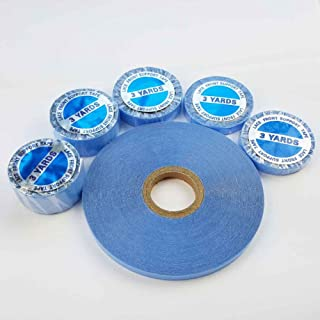 SHOWJARLLY 3 Yards Lace Front Wig Support Tape Roll 10mm Wide Strong Adhesive Double Sided Blue Liner Hair Replacement Tape for Tape in Hair Extensions,Toupees,Beards and Wigs Water-Proof