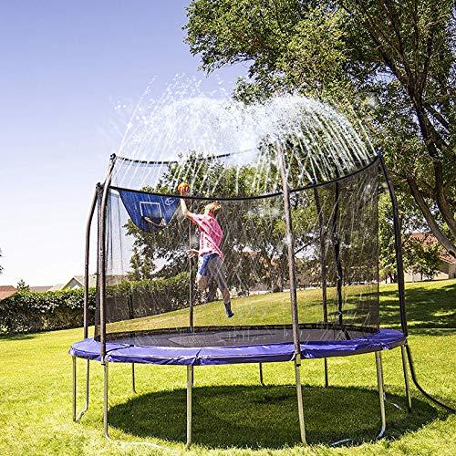 INMUA Trampoline Sprinkler, Outdoor Water Play Sprinklers for Kids Fun Water Park Summer Games Yard Toys Sprinkler (32.8ft/10M)