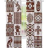 YUAZHOQI Cortinas Southwestern Marcos con patrones étnicos nativos americanos y cortinas opacas para sala de estar 132 x 274 cm