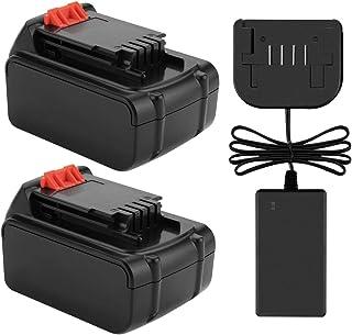Exmate LST220 LBX20 LBXR20 - Batería de repuesto para Decker LST220 LBX20 (iones de litio, 2 unidades, 20 V, 5,0 Ah)