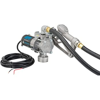 GPI - EZ-8 Fuel Transfer Pump, Manual Shut-Off Nozzle, 8 GPM fuel pump, 10' Hose, Power Cord, Adjustable Suction Pipe (137100-01)
