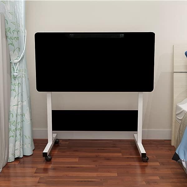 笔记本电脑边桌 VECDUO 家用可调节可移动可升降可折叠电脑桌平板电脑插槽轮便携式笔记本电脑支架床沙发 31 5x15 7 英寸