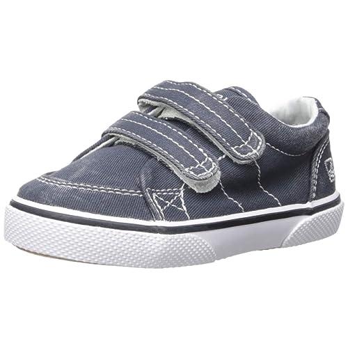 4bdc45a1247d Sperry Halyard Hook & Loop Boat Shoe (Toddler/Little ...