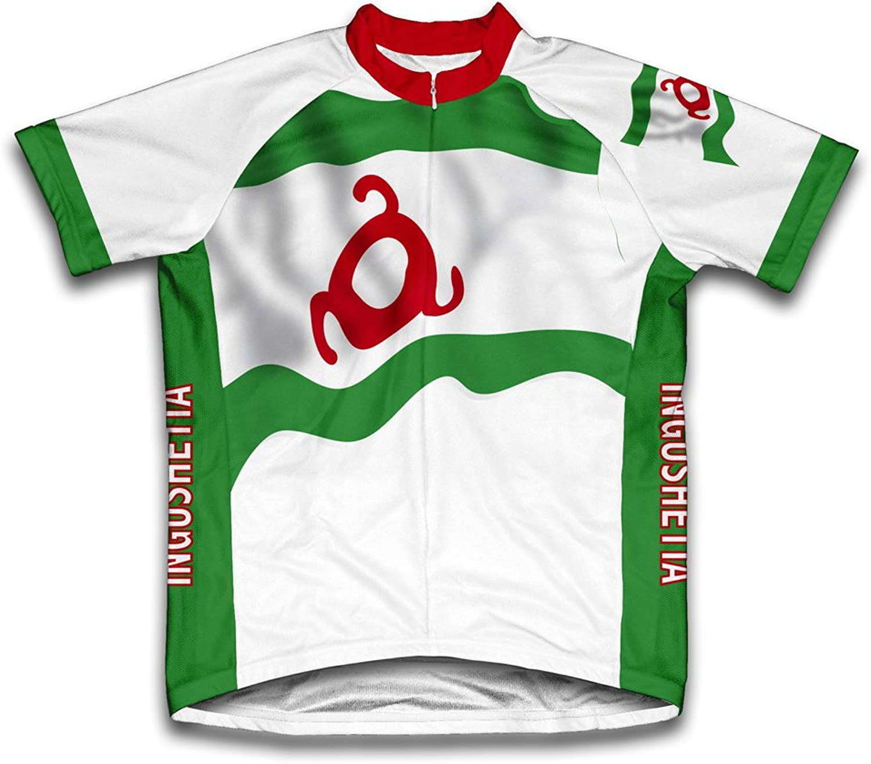 Ingushetia Flag Short Sleeve Cycling Jersey for Men