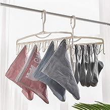 DSHUJC Clothes Hanger Space Saving Hanger Multifunction Plastic Socks Underwear Storage Rack Household Organizer (Color : ...
