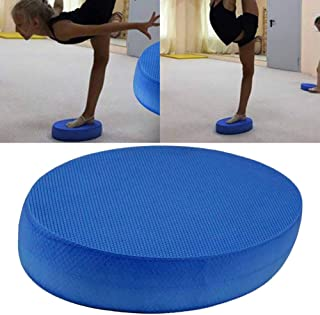 qiguch66 Balance Pad - Large Yoga Mat Trainer for Therapy,Knee and Ankle Exercise,High Rebound Anti-Skid Oval Yoga Cushion TPE Fitness Dance Exercise Balance Pad Blue