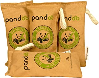 Pandoo natuurlijke bamboe luchtverfrisser met actieve houtskool, luchtreiniger en luchtontvochtiger, luchtreiniger in de k...