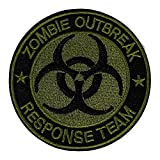 Zombie Outbreak Response Team Symbol Logo 3.25' Embroidered Premium Patch Iron/Sew-On Decorative Applique X-File Cryptid Monster Creature Unexplained Mysteries Bio Hazard Walking Dead I Believe