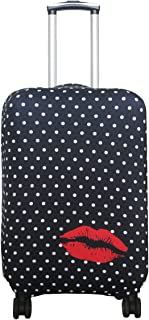Travel Luggage Cover Suitcase Protector Fits 18-32 Inch Luggage (Polkadot, L(27-30 inch Luggage))