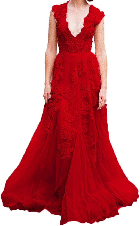 Beautydress Modern Womens Deep V Neck Lace A Line Wedding Dresses Bridal Gowns BP012