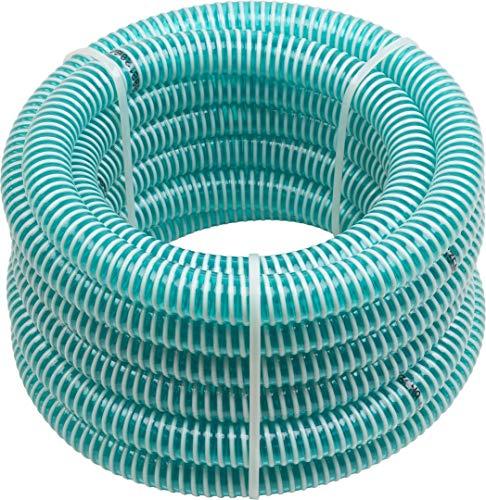 Meister Saugschlauch 25,4 mm (1 Zoll) - 4 m Länge - Für Gartenpumpen, Sauganlagen & Hauswasserwerke - Vakuumfest & Formstabil / Pumpenschlauch / Ansaugschlauch / 9920610