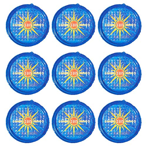 Solar Sun Rings UV Resistant Above Ground Inground Swimming Pool Hot Tub Spa Heating Accessory Circular Heater Solar Cover, Blue (9 Pack)