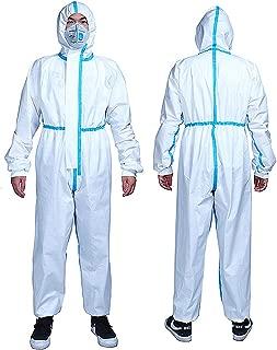 Transpirable XX-Large Resistente al Polvo Messygo Mono Protector de Color Blanco Reutilizable antivirus Tela Gruesa Protectora para Hombres y Mujeres