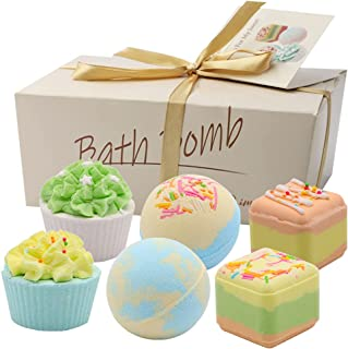 Bath Bomb Gift Set with Natural Fizzies for Kids 6 Packs, Handmade Organic Bath Bombs with Essential Oils, Great Birthday ...