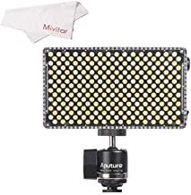 Aputure AMARAN AL-F7 256 LEDs On Camera Light,Bi-Color 3200-9500K Adjustable Brightness & Color Temperature(Aputure H198 Upgrade Version)