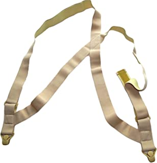 Hold Brand hidden undergarment beige side-clip style Suspenders with airport friendly Beige Gripper Clasps